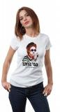 Pamuklu bakılı bayan t-shirt